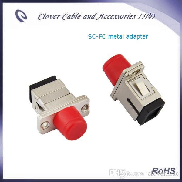 Adaptateur de fibre optique en métal de qualité télécom conforme aux normes FC-SC