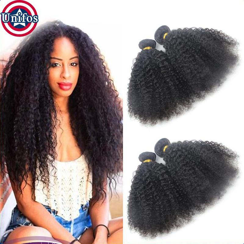 Virgin Brazilian Afro Kinky Curly Hair 4 Bundles Brazilian Kinky