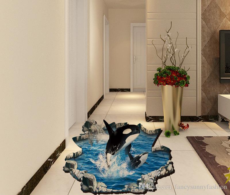 5 Eco Friendly Halloween Decoration Ideas: 2016 Newest 3D Printed Dolphin Sea World Decor Floor Wall