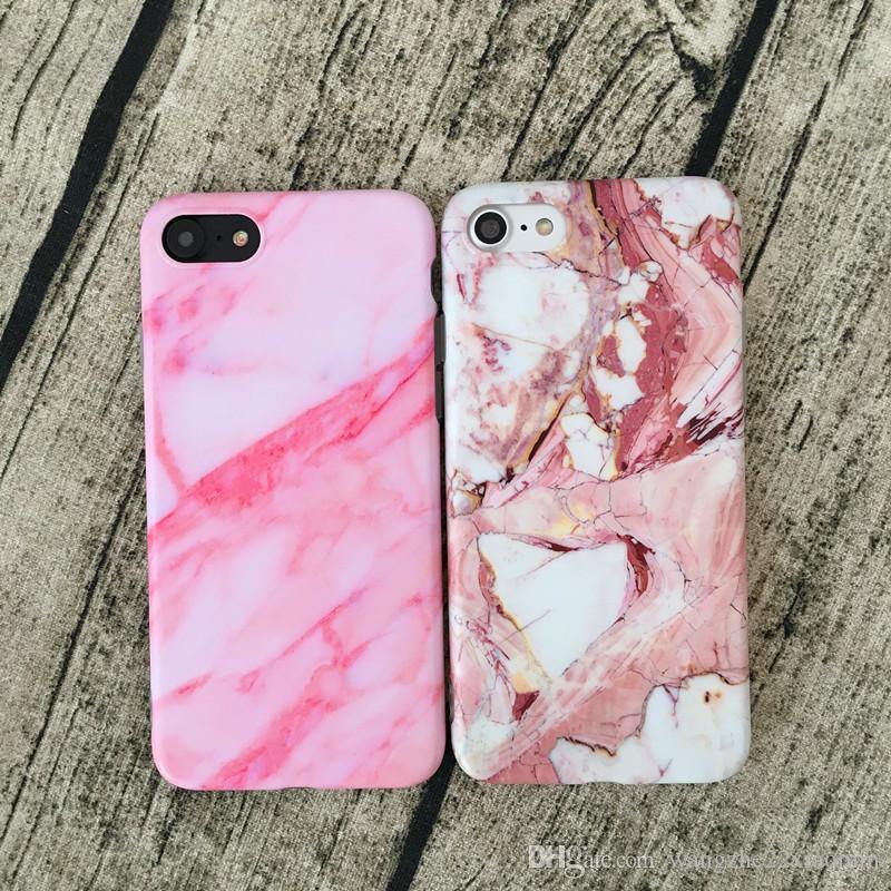 En gros vente chaude cas de marbre pour iPhone 7 couverture de téléphone de luxe douce protection complète Fundas