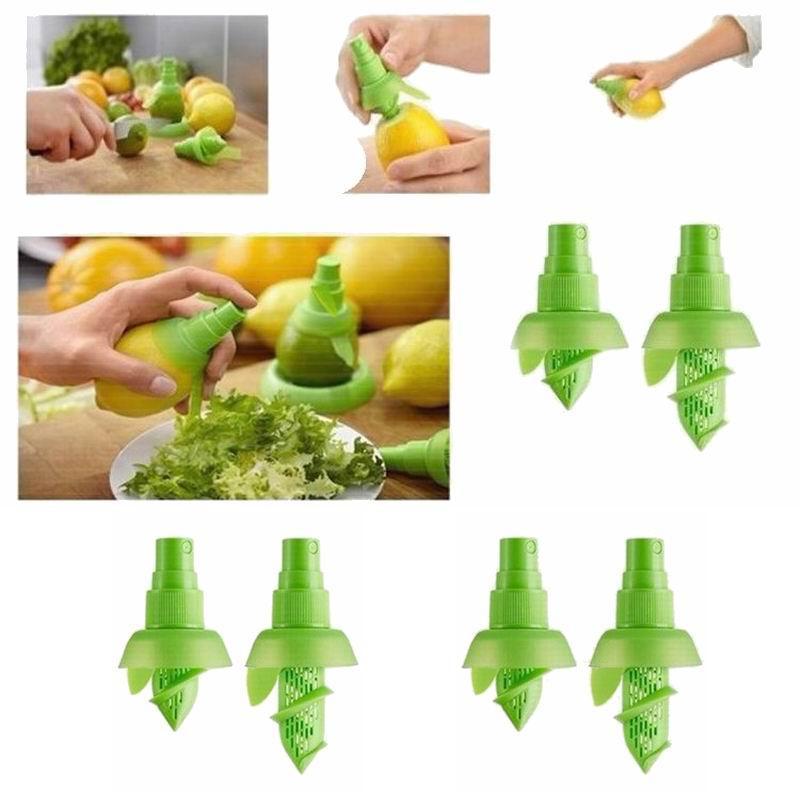 Limon ve kireç meyve charms karpuz Suyu Püskürtücü 2 adet / grup Narenciye Sprey El Meyve Sıkacağı Sıkacağı Oyucu Mutfak pişirme Araçları