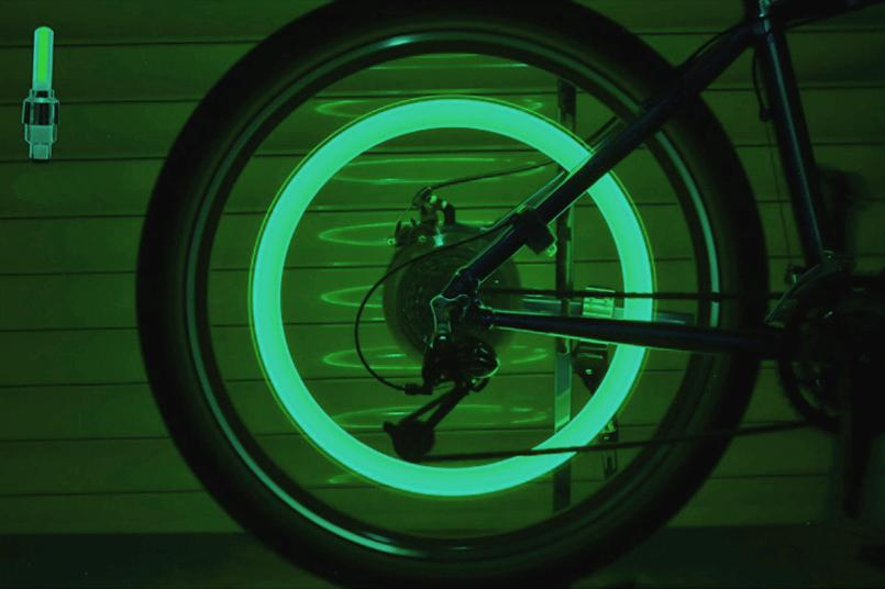 Cool of choice Bicycle Bike Valve light with no battery tyre Caps Wheel spokes LED Light
