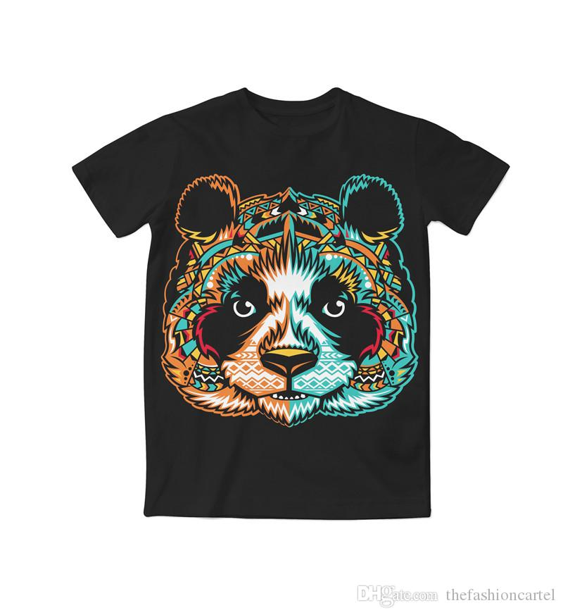 7f0705eeaa7e Real American USA Size Tribal Panda. 3D Sublimation Print T Shirt Plus Size  Cute T Shirts Nerd T Shirts From Thefashioncartel