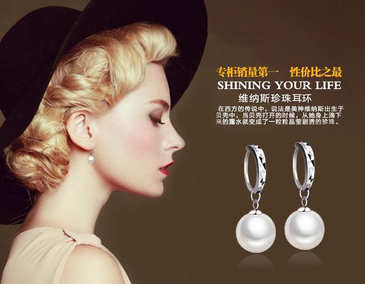 925 Sterling Silver earrings Elegant big pearl long double earrings A-L 925 Sterling Silver bridal/Wedding dangle brinco prata Jewlery gift