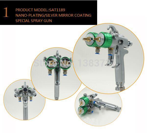 SAT1189 spedizione gratuita spruzzo automatico colla macchina di plastica cromo spray su vernice cromata pistola ad acqua cromata