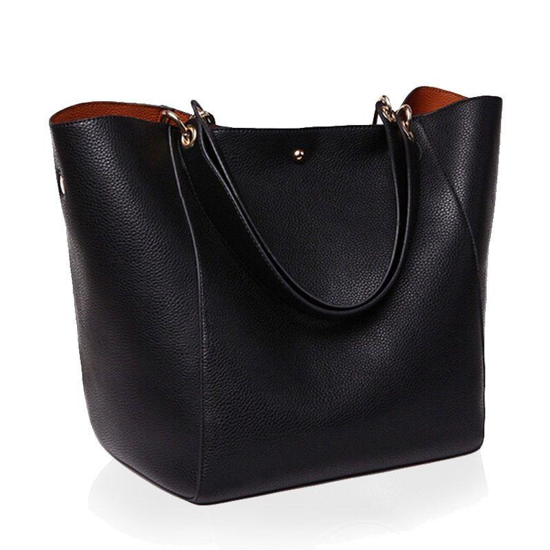 5050dc13ea8e HLB031 Hot Sale Women Messenger Shoulder Bag Big PU Leather Bag Female  Genuine Black Handbag Fashion Lady Tote Crossbody Bag Sac A Main Women Bags  Leather ...