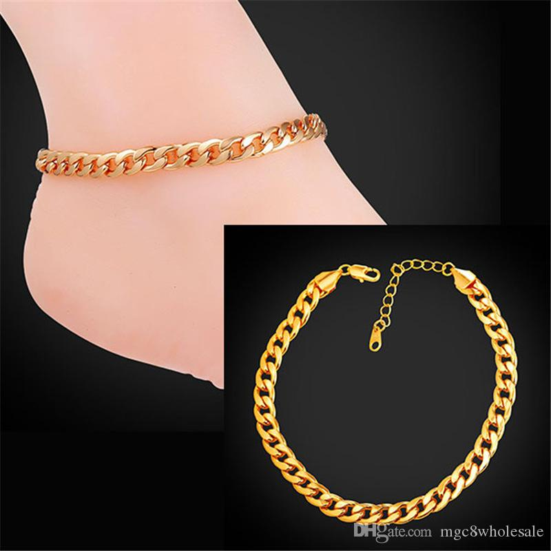 leg p gold glazed in anklet wholesale bent plated foot product jewelry golden tube