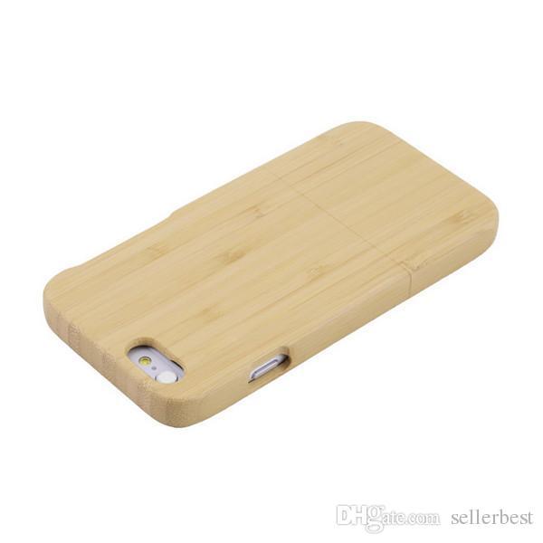 En gros Véritable Bois Naturel En Bois Bambou Dur Housse Etui Pour iPhone 6 4.7