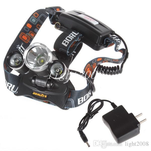 good price 5000 Lumen T6+2R5 Boruit Head Light Headlamp Outdoor Light Head Lamp HeadLight Rechargeable by 2x 18650 Battery Fishing Camping