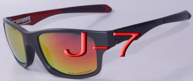 2016 Clásicos Jupiter Carbono Deportes Gafas de sol Polarizadas Oculos Mujeres Hombres marco de plástico negro fuego rojo Iridium espejo flash 4066