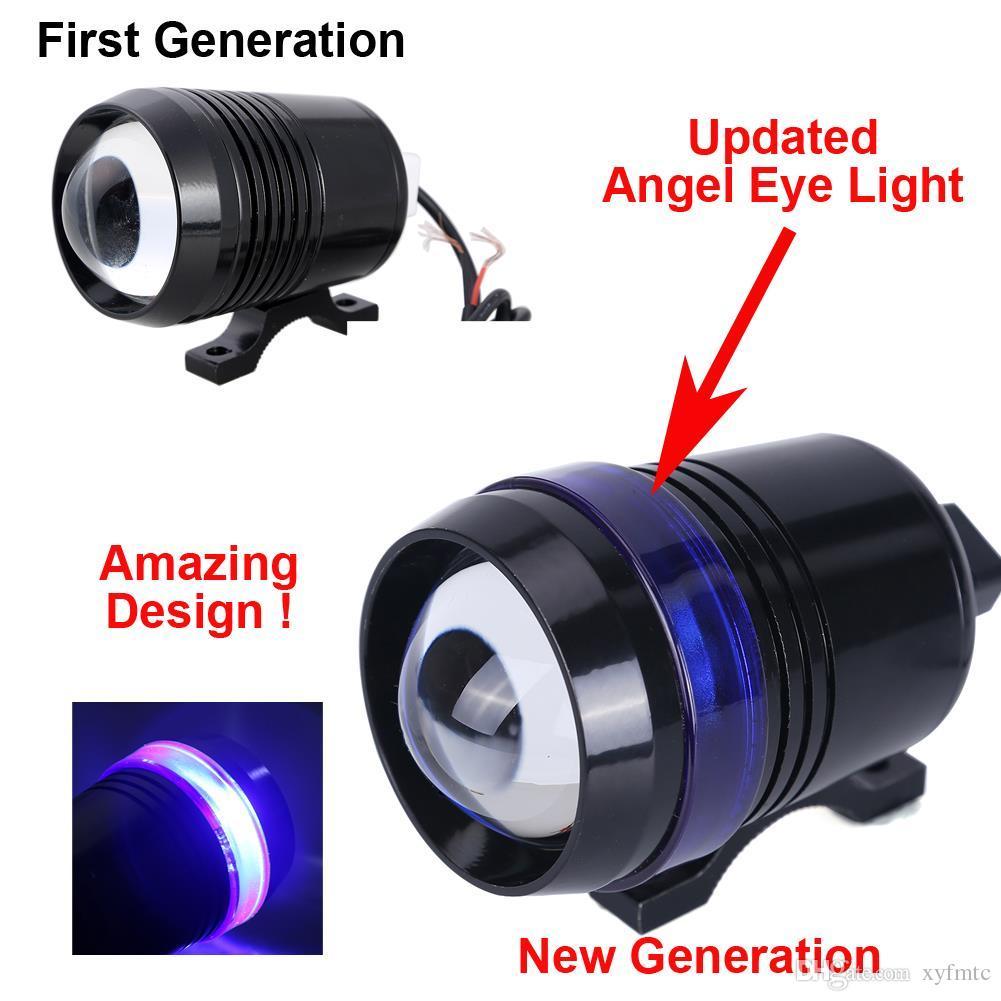 12 V LED Linterna de la motocicleta 30 W LED U3 luces de la lámpara de conducción del ojo del ángel con la lente de la lámpara Foco de la lámpara Strobe ATV Offroad Car