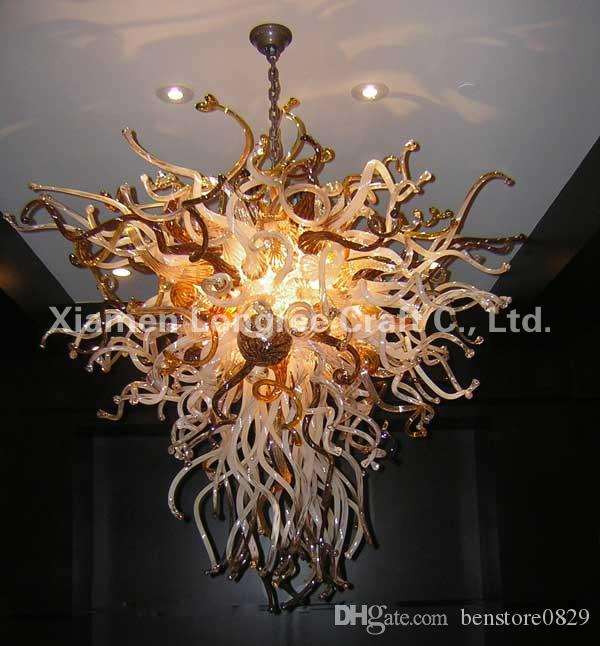 C50-Custom Made lustre en verre soufflé à la main Art Decor lustre en verre de Murano pendentif lampe lustre en cristal lampe