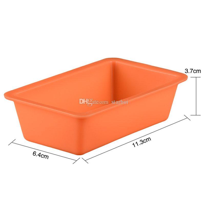 Neue Mini Silikon DIY Toast Box Form Backenwerkzeuge Rechteckigen Kuchen Brot Platte Küche Backenwerkzeuge Hitzebeständige Multi Farben WX9-100