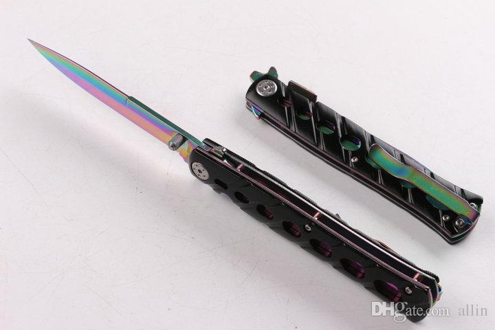 OEM 황새치 생존 전술 접이식 칼 5CR13 57HRC 티타늄 블레이드 Knifes EDC 포켓 폴드 나이프 중국에서 만든
