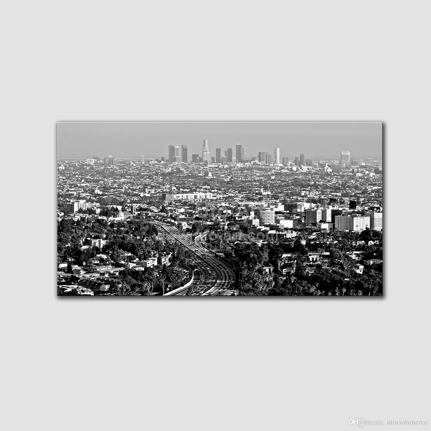 Guarantee Black and White Canvas Painting City Living Room Wall Decor Canvas Art Prints Modular Pictures Pintura on the Wall