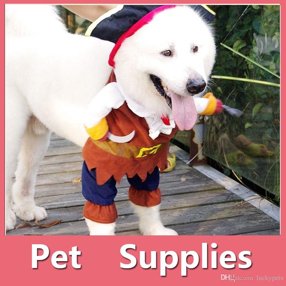 2018 Halloween Costumes Pet Dog Clothes Pirate Captain Puppy Pet