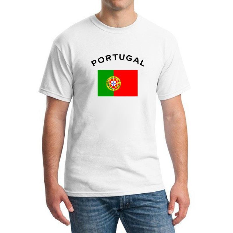 2016 Coppa Europa PORTOGALLO Appassionati di calcio Tifosi Bandiera nazionale T-shirt Fitness palestra Ronaldo Fans T-shirt uomo Abbigliamento