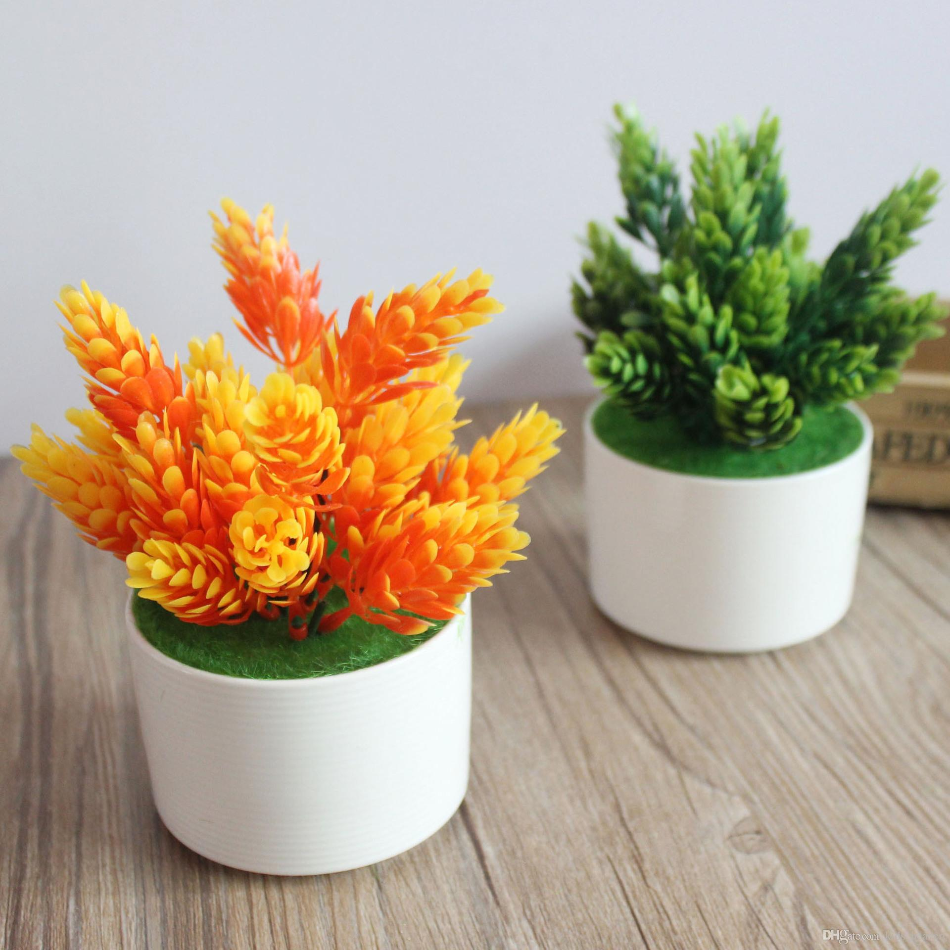 2018 artificial flowers fake flower green and orange touch flowers