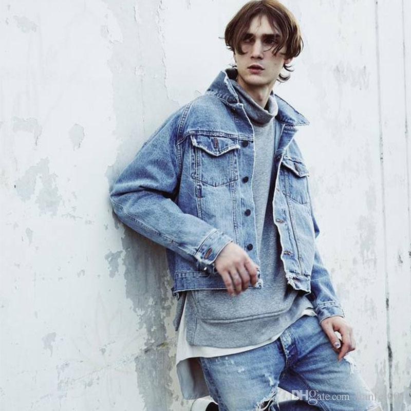 wholesale dealer 91048 ed291 16FW FOG Giacca di jeans Fear Of God Uomo Donna Cappotti Moda Highstreet  Hip Hop Denim Jacket HFJK032