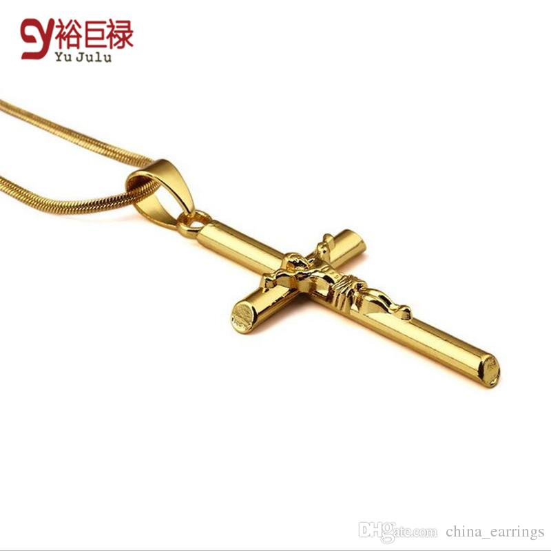 Wholesale 18k real gold plated flat snake chain cristo jesus cross wholesale 18k real gold plated flat snake chain cristo jesus cross necklace hiphop gold plated pendant necklace for men women religious jewelry mens aloadofball Gallery