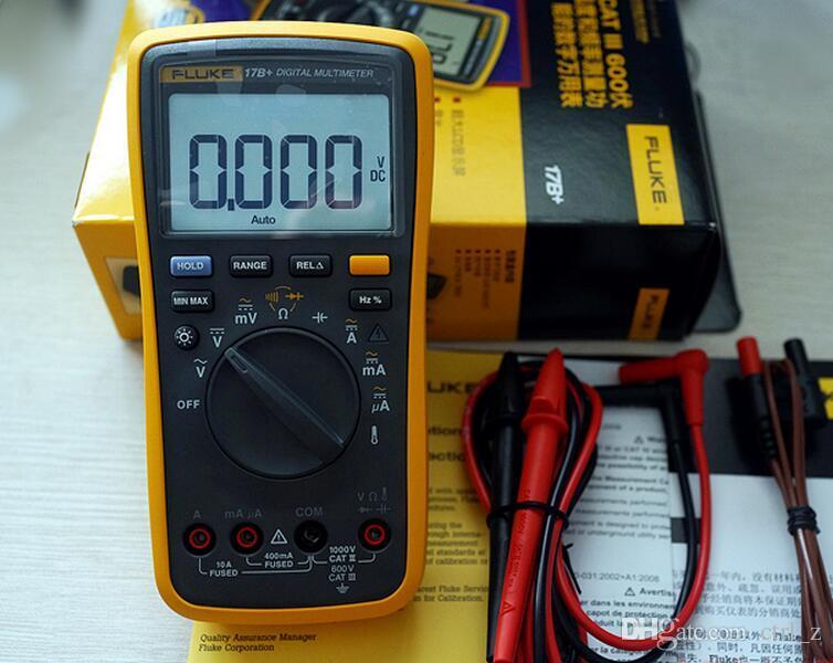 Vente en gros - Multimètres numériques Fluke F17B multimètre testeur avec boîte de détail F17B + F18B F15B DHL navire de la Chine