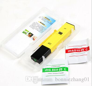with box Home PH Tester ATC Meter PH-009 Value Test LCD Tester 0-14 Pocket Pen Aquarium Water Tester