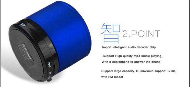S10 Inalámbrico Bluetooth Mini altavoz portátil Reproductor de música HI-FI Subwoofers estéreo Altavoces de audio para el hogar Soporte para tarjeta TF Reproductor de MP3 FM
