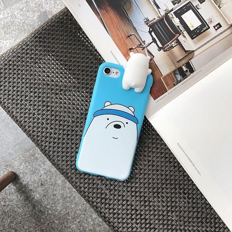 Nouveauté 3D Panda Ours Polaire Brun Ours Silicone Téléphone Case Antichoc Étui de Protection Cellulaire Cas pour IPhone 6 6 s 6 plus 6 s plus 7 7 plus