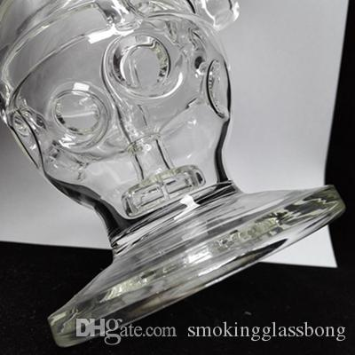 Skull Bong Faberge Egg glass bongs In-direct injection Fab dab rigs bongs two functions dry bowl oil rig carb cap water pipe 14.4 mm joint