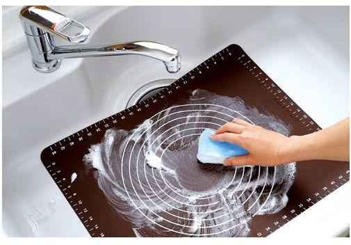 50x40cm Ferramentas de cozimento de silicone macio rolando placas de massa amassando tapete de massa com calibração alta temperatura resistente