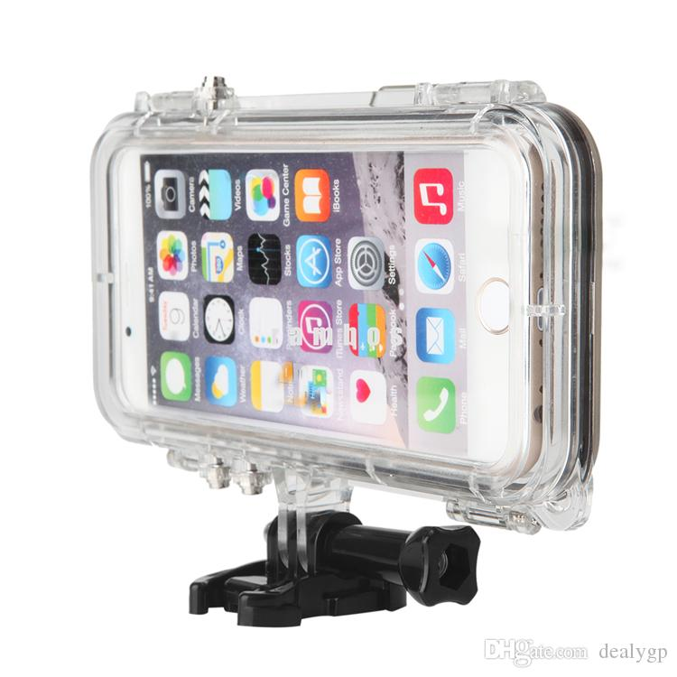 finest selection 1c8bb 35dcd IP68 Underwater Swimming Surfing Waterproof Smartphone Cover Bag Cases with  170 Degree Wide Angel Lens for iPhone 5 5s SE