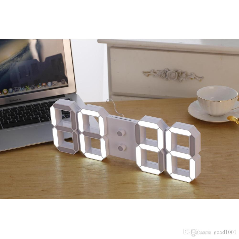 Wholesale remote control large led digital wall clock modern see larger image amipublicfo Images