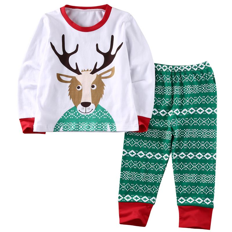 f97d4ab5b Wholesale Christmas Cotton Sleepwear Cute Kids Baby Boys Girls 2017 ...