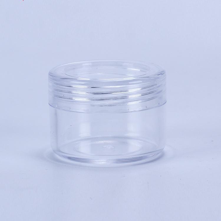 Vidalı Kapak 15Gram Mini Boş Pot İçin Göz Farı Çiviler Toz Boncuk Takı Krem Wax Şişe ile 15ML Plastik Kozmetik Konteyner Kavanoz