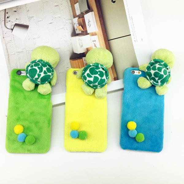 cheap for discount af488 95864 New Product Fluffy 3D Turtle Tortoise Cases Hard Back Cover Animal Pattern  Design Mobile Phone Cases for Iphone6 6plus