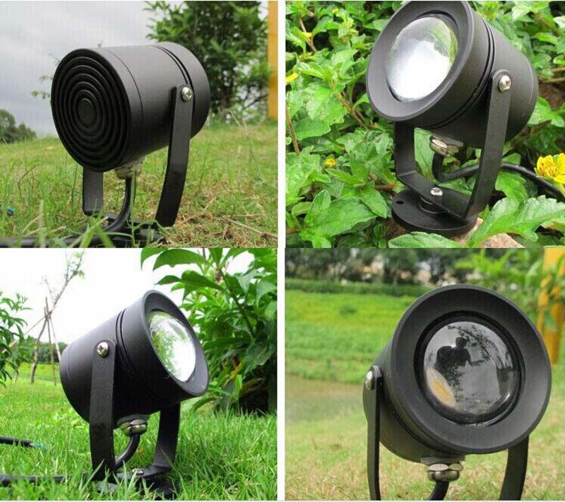 3W 6W 10W de alumínio fundido ao ar livre LED Spotlight Lawn Lamp Landscape Fixture 12V IP65 à prova d 'água para jardim Spot de iluminação RGB + IP67 Adapter