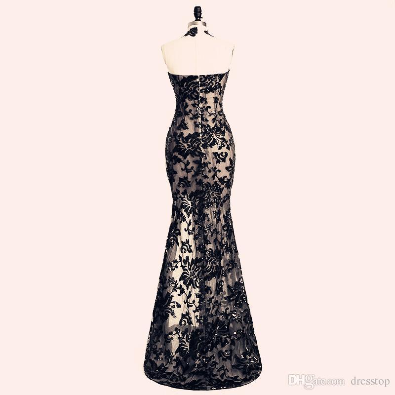 2020 Elegante Perlenstickerei Split Abendkleider Rami Salamoun Appliqued hohe Ansatz Mermaid Pailletten lange Abschlussball-Kleid-reale Bilder Günstige formale Kleider