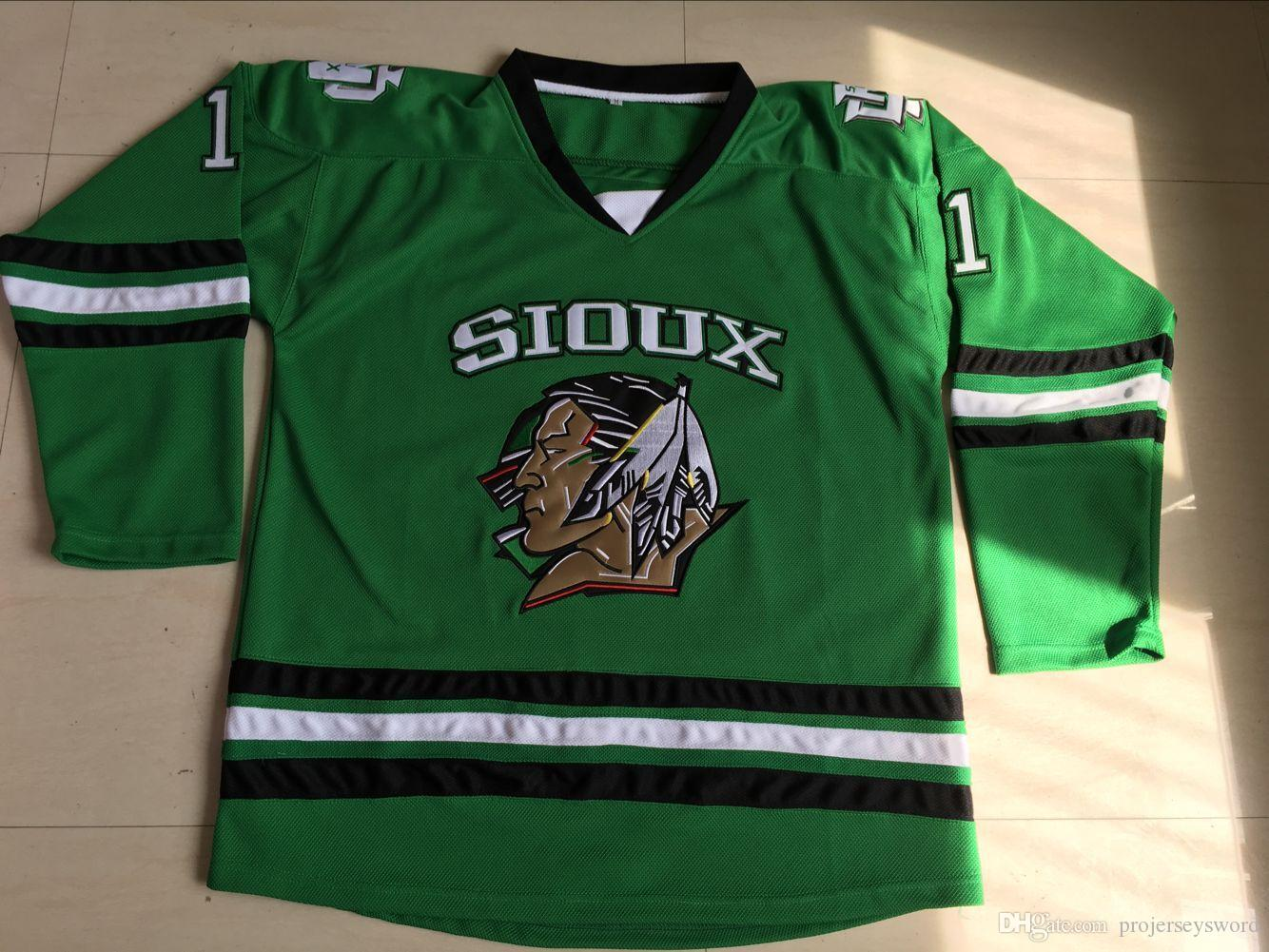 Youth Kids North Dakota Hockey Jerseys Blank 7 TJ Oshie 9 Jonathan Toews 11  Zach Parise 100% Stitched Fighting Sioux DAKOTA Hockey Jersey UK 2019 From  ... 05be58de6a5