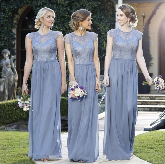 Romantic bridesmaid dresses 2016 lavender top lace jewel for Average wedding dress cost 2016