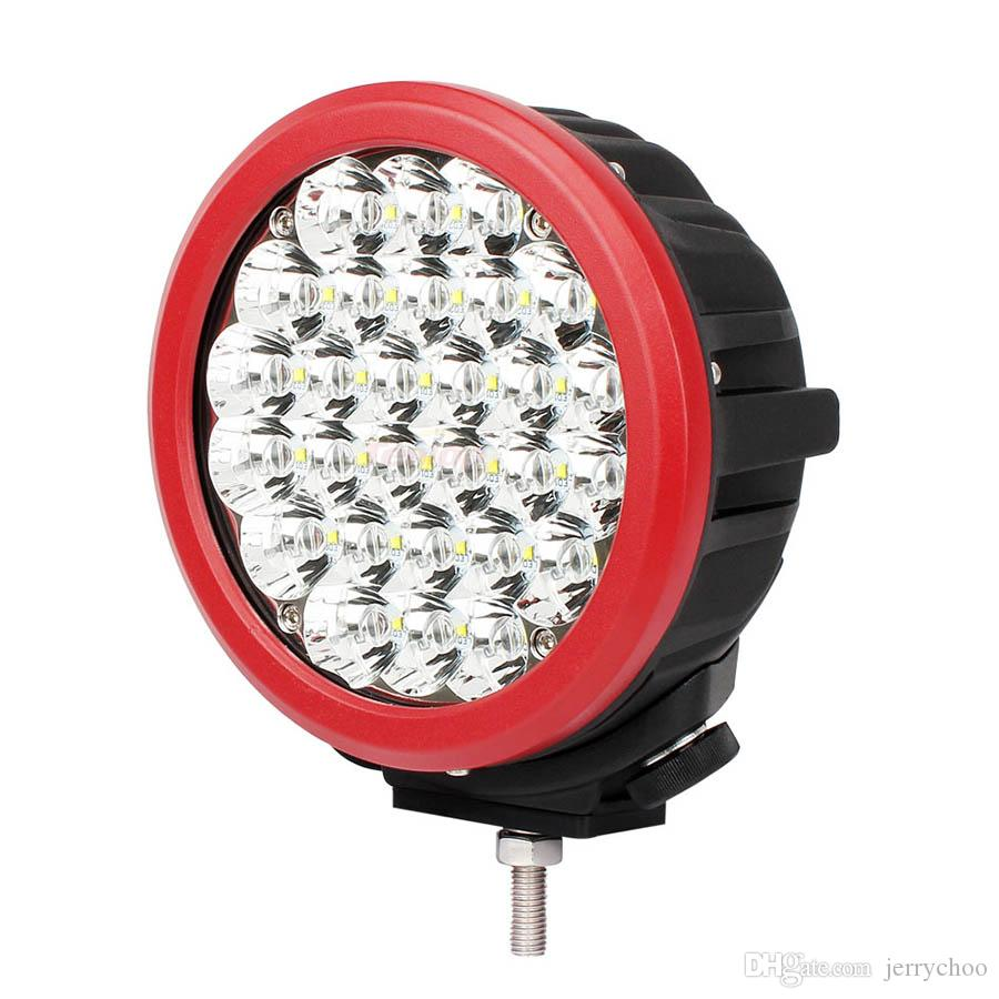 Super Bright 7 Inch Red Shell 140W Cree Front Bumper Light Headlight For Offroad 4*4 Wrangler Defender ATV