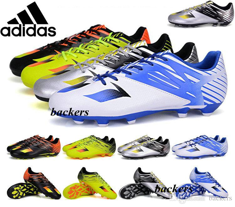 2018 Original Adidas Kids Soccer Shoes Messi 15.1 Fg Core Youth Football Boots  Cleats Children Size 33 44 Cheap Boys Firm Artificial Ground Grass From ...