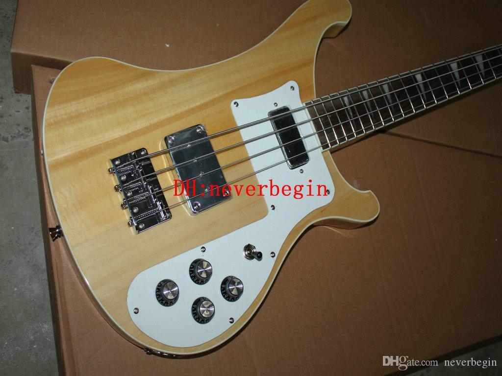 Hoge 4 snaren 4003 basgitaren natuurlijke elektrische basgitaar gratis verzending A1
