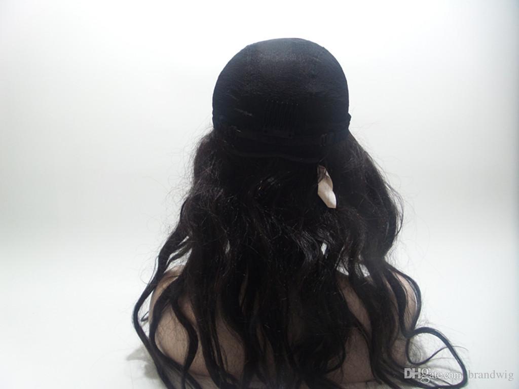 Full Lace perruques de cheveux humains Meilleure qualité de cheveux humains 100% Big Waves Avant Full Lace Wig Lace Wig Perruques pour les femmes blanches peuvent concevoir sur mesure