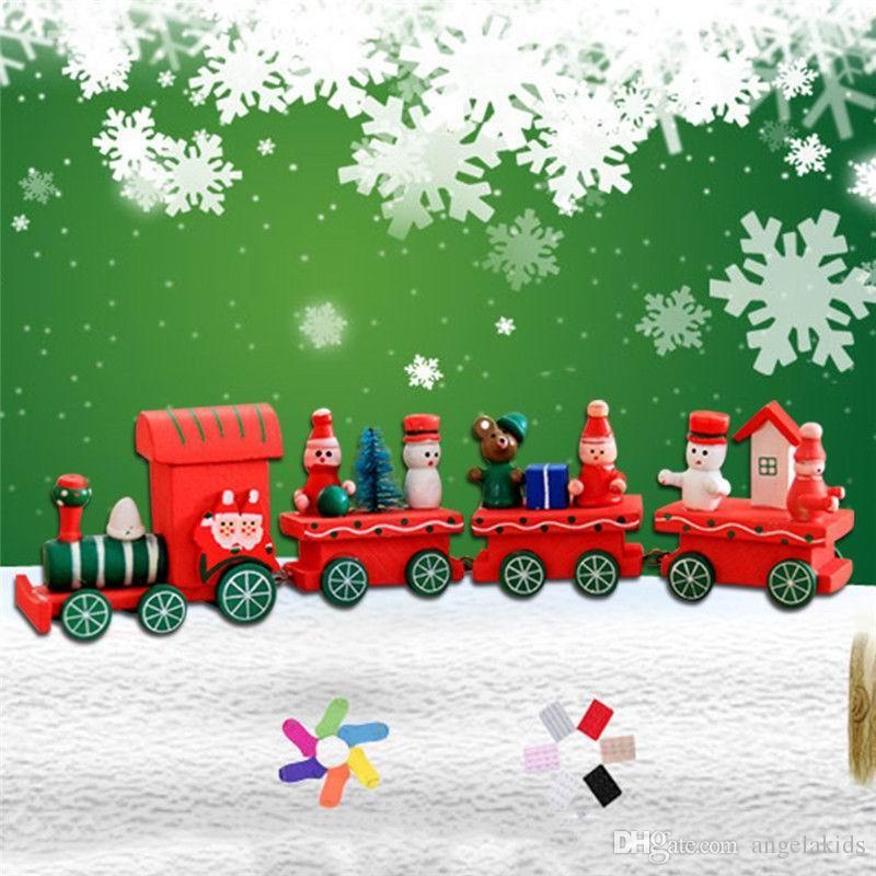 Spielzeug Intelligenz Holz Holz 3d Iq Puzzle Zauberwürfel Spielzeug 4 Stück Kutsche Holz Weihnachten Xmas Zug Ornament Dekoration Kinder Geschenk Spielzeug