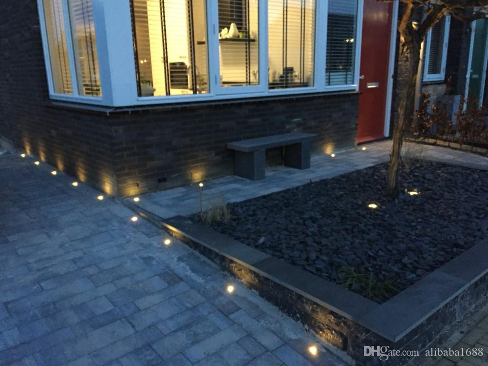 ماء LED الطابق ضوء 12V مصابيح أرضية LED تحت الأرض خطوات الدرج LED بقعة ضوء تحت الأرض في الأرض راحة LED الألومنيوم الجسم