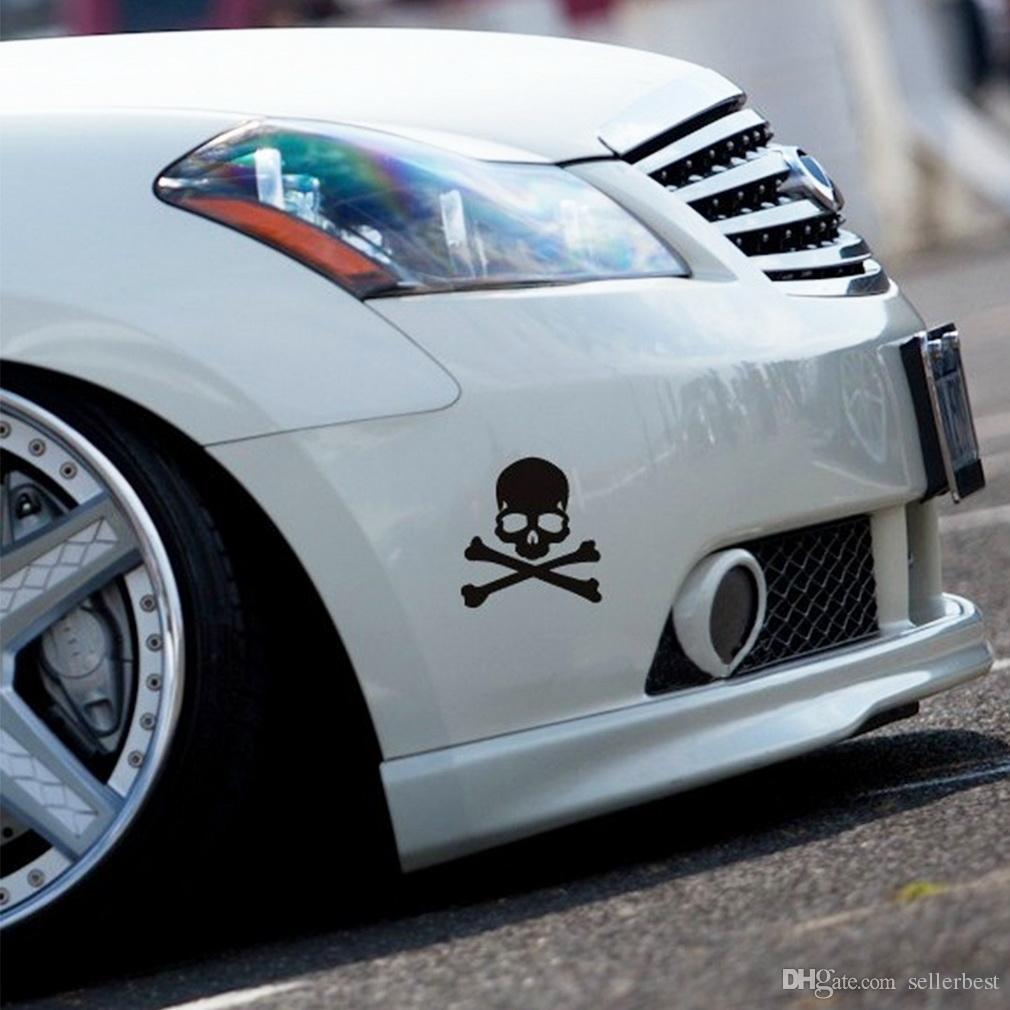 3D 3 M Kafatası Metal İskelet Crossbones Araba Motosiklet Sticker Kafatası Amblem Rozet araba styling etiketler aksesuarları