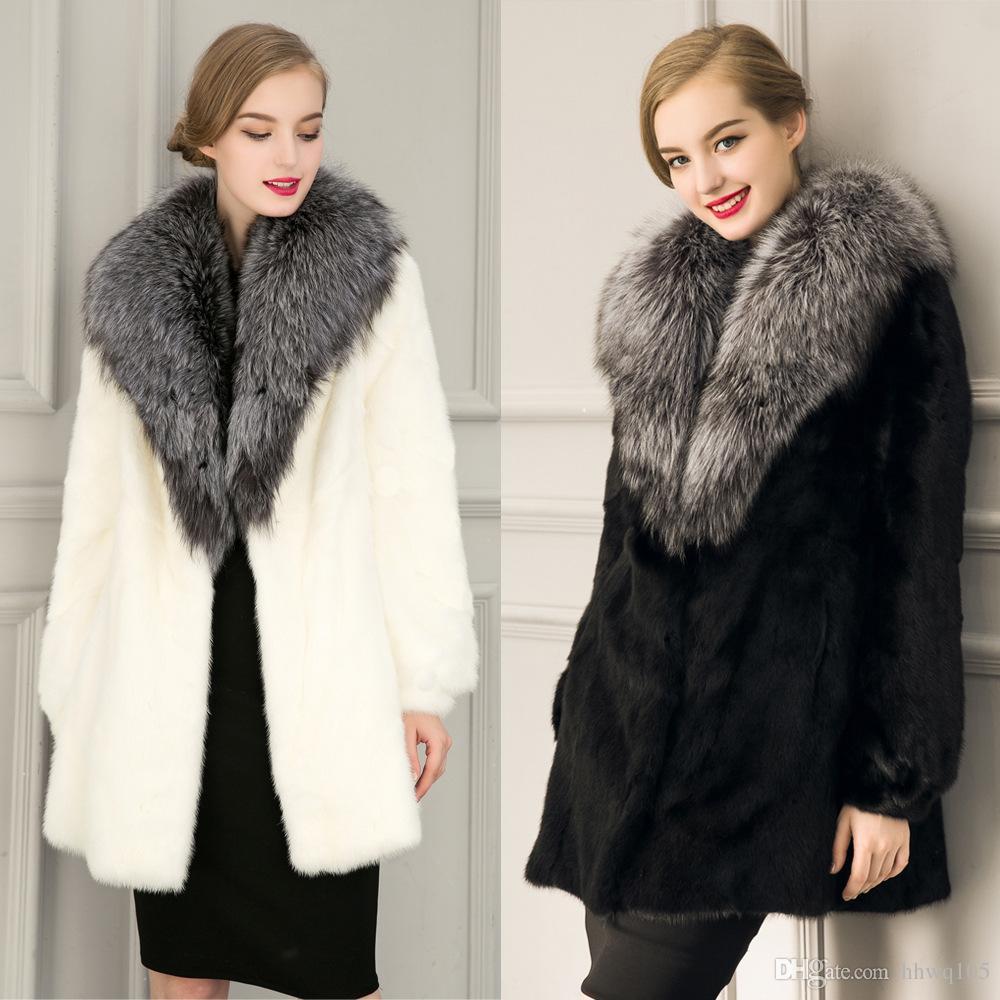 2017 Deluxe Rabbit Fur Coat Petite Women Formal Winter Outwear ...