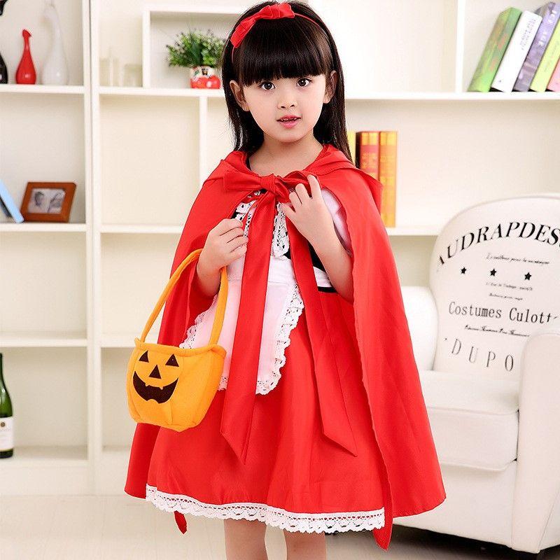 halloween costume kids dress cosplay little red riding hood halloween costumes for little kids