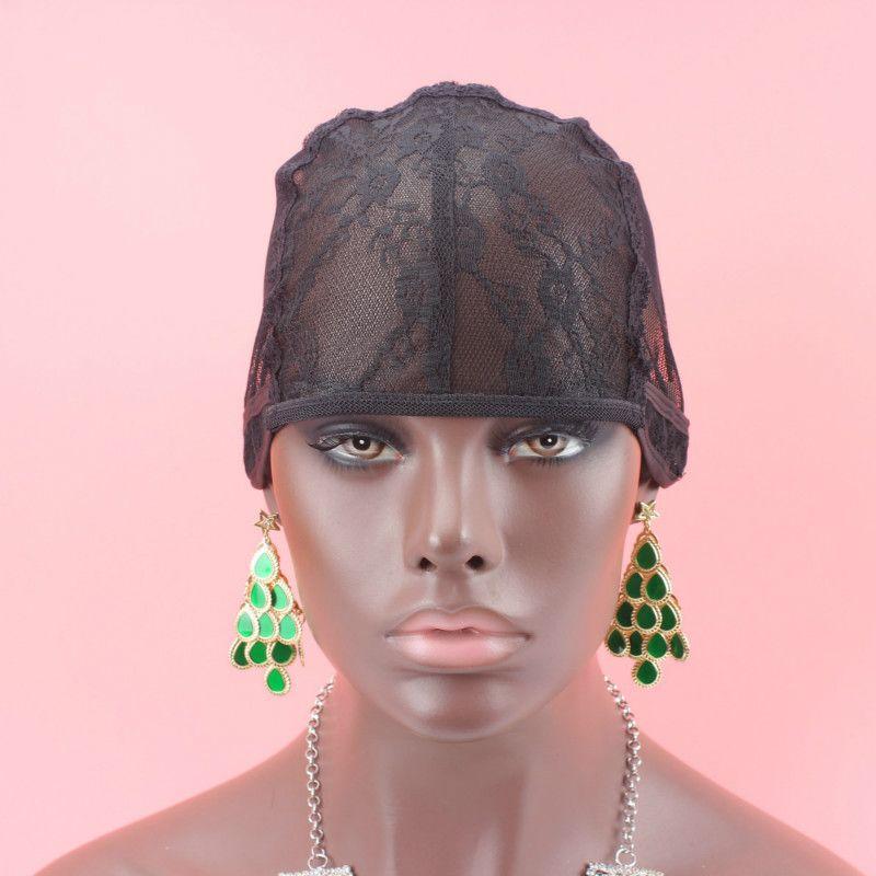 5 adet / grup peruk yapmak için peruk kap ayarlanabilir askı ile arka dokuma kap boyutu S / M / L tutkalsız peruk kapaklar iyi kalite ücretsiz kargo