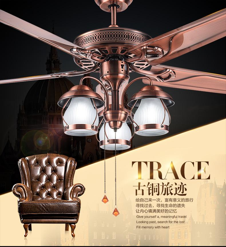 Wunderbar Discount American Rustic Living Room Ceiling Chandelier Fan Lights  Restaurant European Antique Fan Light Vintage Fan With Led Lights From  China | Dhgate.Com